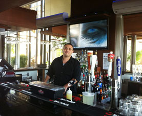 Our Grad Bryce Bartending At Costa Blanco